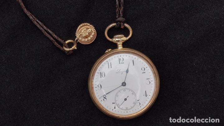 Relojes de bolsillo: RELOJ LONGINES ORO 18 K. FUNCIONA PERFECTAMENTE - Foto 3 - 94630740