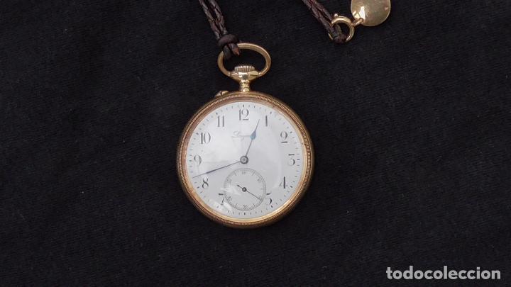 Relojes de bolsillo: RELOJ LONGINES ORO 18 K. FUNCIONA PERFECTAMENTE - Foto 6 - 94630740