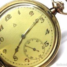 Relojes de bolsillo: RELOJ SABONETA SUIZO, ALPINA CORPORACION DE RELOJEROS SUIZOS, WALZ GOLD DOUBLE 40 MICRONS FUNCIONADO. Lote 87134800