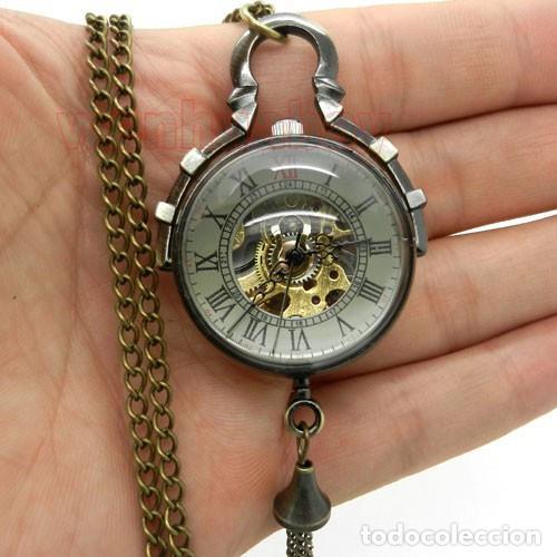RELOJ DE BOLA DE CRISTAL A CUERDA NO CUARZO ,FUNCIONANDO (Relojes - Bolsillo Carga Manual)