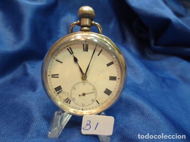 RELOJ DE PLATA FUNCIONANDO (Relojes - Bolsillo Carga Manual)