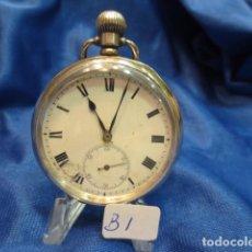 Relojes de bolsillo: RELOJ DE PLATA FUNCIONANDO . Lote 88160604