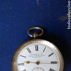 Relojes de bolsillo: RELOJ DE BOLSILLO ANTIGUO DE PLATA.. Lote 88370914
