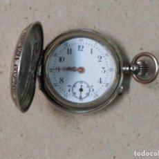 Relojes de bolsillo: RELOJ DE BOLSILLO DE PLATA, CARGA MANUAL, FUNCIONANDO. Lote 88795744