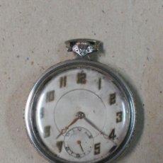 Relojes de bolsillo: RELOJ DE BOLSILLO EN PLATA, CARGA MANUAL, SUIZO. Lote 88796660