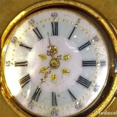 Relojes de bolsillo: RELOJ REMONTOIR 3 TAPAS. CILINDRO 10 RUBIS. 18K. 323162. SUIZA(?) FIN XIX. Lote 89173144