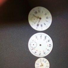 Relojes de bolsillo: ESFERAS Y MANILLAS DE RELOJ DE BOLSILLO. Lote 89288902