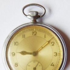 Relojes de bolsillo: RELOJ DE BOLSILLO MILITAR. PROVIENE DE SOLDADO NACIONAL DE LA GUERRA CIVIL. FUNCIONA. 50MM. Lote 89359864