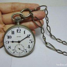 Relojes de bolsillo: ANTIGUO RELOJ DE BOLSILLO. 3 TAPAS. CYMA. CON SEGUNDERO. CON LEONTINA.. Lote 89852812