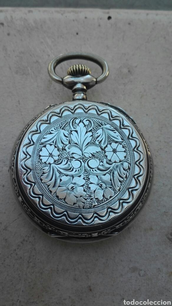 Relojes de bolsillo: Reloj de Bolsillo Plata Ancre Remontoir 15 Rubis - Juan Janini Villanueva y Geltrú - - Foto 2 - 91852860