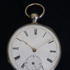 Relojes de bolsillo: ANTIGUO RELOJ DE BOLSILLO, DE LLAVE, FABRICADO EN LIVERPOOL Y FUNCIONANDO. Lote 93152150