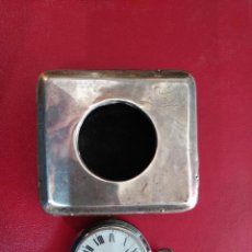 Relojes de bolsillo: ANTIGUO RELOJ BOLSILLO CON CAJA Y PIE DE PLATA INGERSOLL RELOJ BOLSILLO ,PLATA, FIRMADO NUEVO. Lote 89168368