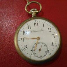 Relojes de bolsillo: MAGNIFICO RARO Y ESCASO DE COLECCIÓN RELOJ DE BOLSILLO CRONOMETRO LONG. TOTAL 6,5 CM SIGLO XIX 431 €. Lote 93386060