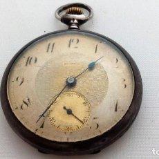 Relojes de bolsillo: RELOJ DE BOLSILLO PLATA, MARCA MIRAMAR, DIAMETRO 45 MM, FUNCIONA. Lote 93697220