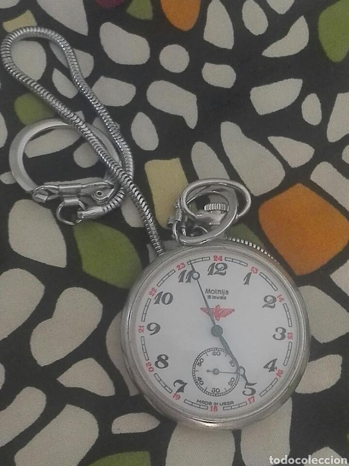 Relojes de bolsillo: reloj de bolsillo molnija en perfecto estado..ver fotos. - Foto 2 - 93854604