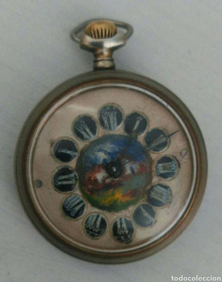 ÚNICO RELOJ DE BOLSILLO ROSSKOPF. FUNCIONANDO. PINTADO A MANO DE PRINCIPOS DE SIGLO. SUIZA (Relojes - Bolsillo Carga Manual)