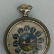Relojes de bolsillo: ÚNICO RELOJ DE BOLSILLO ROSSKOPF. FUNCIONANDO. PINTADO A MANO DE PRINCIPOS DE SIGLO. SUIZA. Lote 94155727
