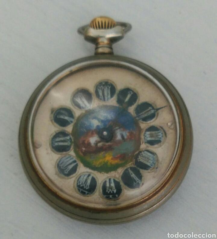 Relojes de bolsillo: ÚNICO RELOJ DE BOLSILLO ROSSKOPF. FUNCIONANDO. PINTADO A MANO DE PRINCIPOS DE SIGLO. SUIZA - Foto 2 - 94155727