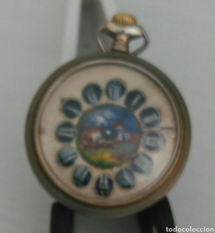 Relojes de bolsillo: ÚNICO RELOJ DE BOLSILLO ROSSKOPF. FUNCIONANDO. PINTADO A MANO DE PRINCIPOS DE SIGLO. SUIZA - Foto 4 - 94155727