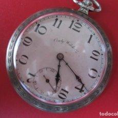 Relojes de bolsillo: RELOJ DE BOLSILLO MARCA CONTY WATCH CO. PLATA. Lote 94175085