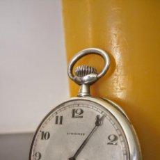 Relojes de bolsillo: RELOJ DE BOLSILLO LONGINES BASCULANTE EN PLATA 900 C.1930-40. Lote 94261620