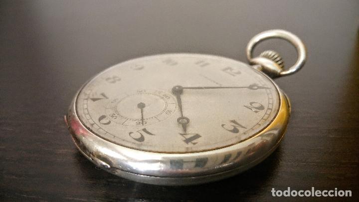 Relojes de bolsillo: Reloj de bolsillo Longines basculante en plata 900 c.1930-40 - Foto 2 - 94261620