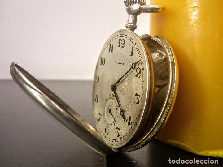 Relojes de bolsillo: Reloj de bolsillo Longines basculante en plata 900 c.1930-40 - Foto 4 - 94261620