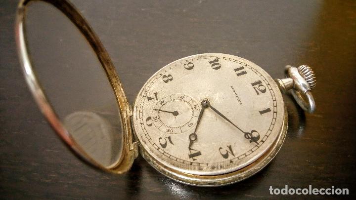 Relojes de bolsillo: Reloj de bolsillo Longines basculante en plata 900 c.1930-40 - Foto 5 - 94261620