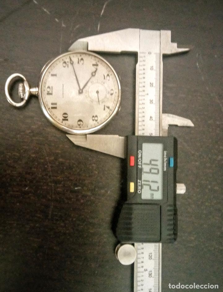 Relojes de bolsillo: Reloj de bolsillo Longines basculante en plata 900 c.1930-40 - Foto 6 - 94261620