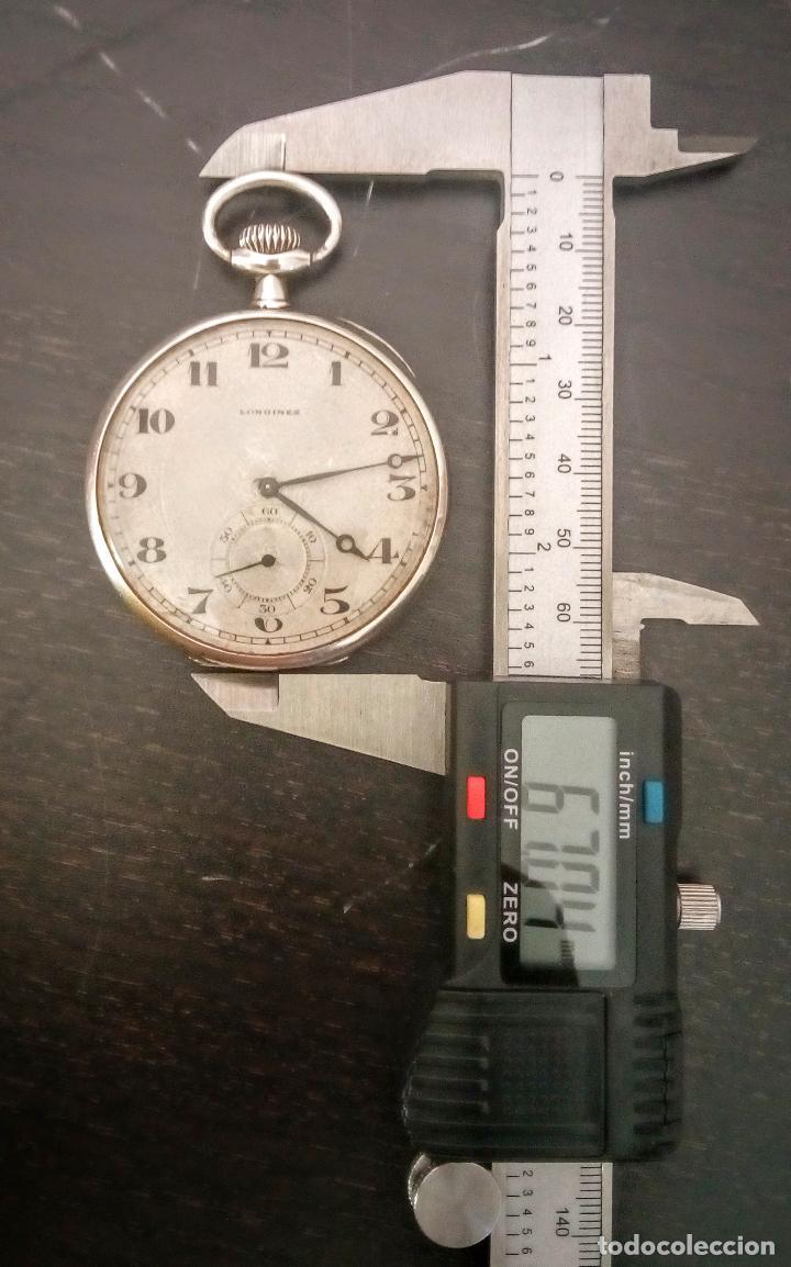 Relojes de bolsillo: Reloj de bolsillo Longines basculante en plata 900 c.1930-40 - Foto 7 - 94261620