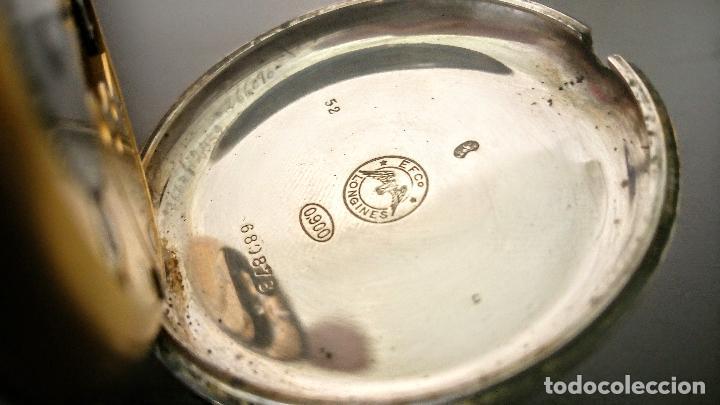 Relojes de bolsillo: Reloj de bolsillo Longines basculante en plata 900 c.1930-40 - Foto 8 - 94261620