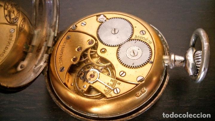 Relojes de bolsillo: Reloj de bolsillo Longines basculante en plata 900 c.1930-40 - Foto 10 - 94261620
