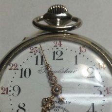 Relojes de bolsillo: RELOJ ANTIGUO REGULATEUR DE PLATA GRANDE DOBLE TAPA FUNCIONANDO. Lote 94267517