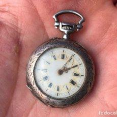 Relojes de bolsillo: ANTIGUO Y PEQUEÑO RELOJ DE BOLSILLO EN PLATA - MUY DECORADO. Lote 94663887