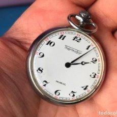 Relojes de bolsillo: RELOJ DE BOLSILLO THERMIDOR INCABLOC - FUNCIONANDO. Lote 94666455