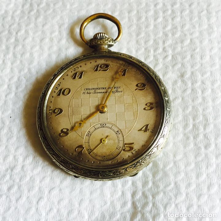 BONITO RELOJ DE BOLSILLO EN PLATA FUNCIONANDO (Relojes - Bolsillo Carga Manual)