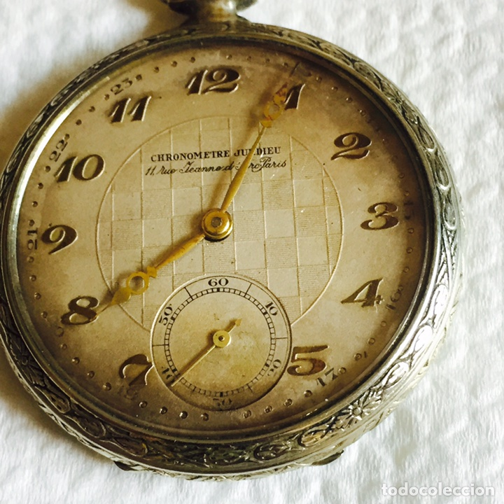 Relojes de bolsillo: Bonito reloj de bolsillo en plata funcionando - Foto 2 - 94790896