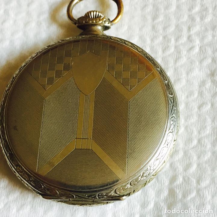 Relojes de bolsillo: Bonito reloj de bolsillo en plata funcionando - Foto 3 - 94790896