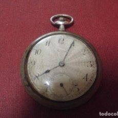 Relojes de bolsillo: ANTIGUO RELOJ DE BOLSILLO,MARCA RARA FARRAF EN PLATA LABRADA,FUNCIONANDO. Lote 95414563