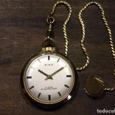 Relojes de bolsillo: RELOJ DE BOLSILLO A CUERDA CON CADENA - ZICO - FUNCIONANDO. Lote 95493027