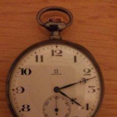 Relojes de bolsillo: MUY ANTIGUO RELOJ OMEGA BOLSILLO FUNCIONANDO. Lote 95636559