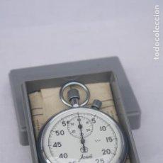Relojes de bolsillo: CRONOMETRO TIPO RELOJ DE BOLSILLO CARGA MANUAL - AGAT - CON CAJA E INSTRUCCIONES ORIGINALES.. Lote 95666295