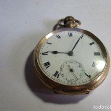 Relojes de bolsillo: BONITO RELOJ ANTIGUO CHAPADO EN ORO 20 YERS 51 MM SIN CONTAR LA CORONA FUNCIONANDO BIEN TRES TAPAS . Lote 95891827