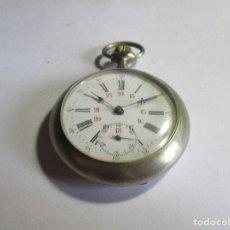 Relojes de bolsillo: RELOJ FUNCIONANDO MUY BIEN DOBLE NUMERACION SEGUNDERO ALAS SEIS . Lote 95893075