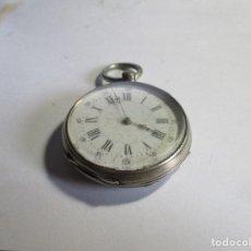 Relojes de bolsillo: RELOJ ANTIGUO TRES TAPAS PLATA FUNCIONANDO DE LLAVE . Lote 95894187