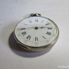 Relojes de bolsillo: RELOJ DE PLATA FUNCIONANDO TRES TAPAS GRANDE DE LLAVE . Lote 95896295