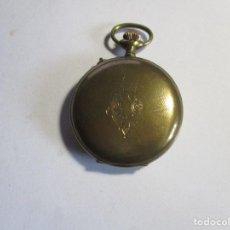 Relojes de bolsillo: RELOJ ANTIGUO 4 TAPAS GUARDA POLVO DE ESFERA DE CRISTAL 54 MM SIN CONTARA LA CORONA FUNCIONANDO RARO. Lote 95899523