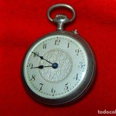 Relojes de bolsillo: RELOJ DE BOLSILLO DE PLATA. FABRICANTE DESCONOCIDO.. Lote 96329291