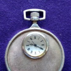 Relojes de bolsillo: CURIOSO RELOJ DE BOLSILLO DE CARGA MANUAL. MAQUINARIA A LA VISTA. EN FUNCIONAMIENTO.. Lote 96524379