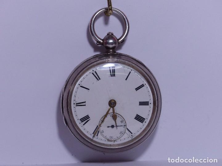 ,,,LLAVERO REVERSING - PINION,,,PLATA SELLADA DOS TAPAS,,. ( B - 25 ) (Relojes - Bolsillo Carga Manual)